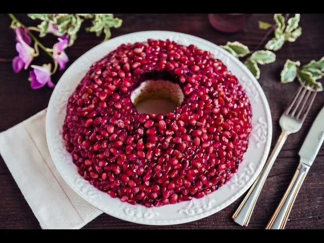 Рецепт салата из гранатовых